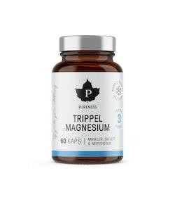 Pureness Trippel Magnesium, 60 kapslar
