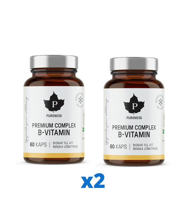 2 x Premium Complex B-Vitamin, 60 kapslar