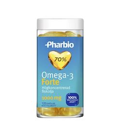 Pharbio Omega-3 Forte, 120 kapslar