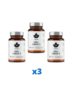 3 x Pureness Krill Omega-3, 60 kapslar
