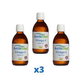 3 x ArcticMed Omega-3 Premium, 300ml