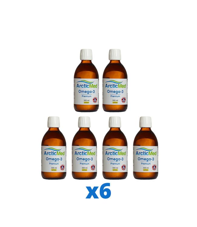 6 x ArcticMed Omega-3 Premium, 300ml