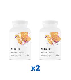 2 x Thorne Betaine HCl & Pepsin, 450 kapslar