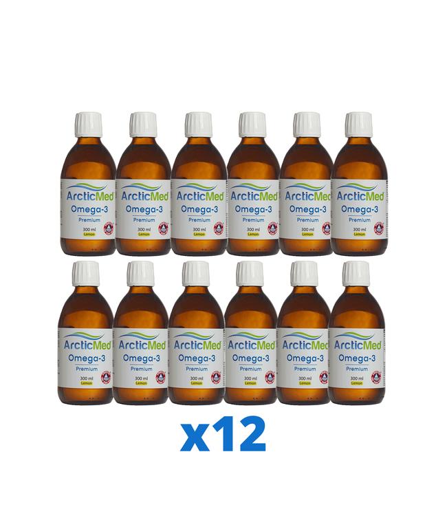 12 x ArcticMed Omega-3 Premium, 300ml