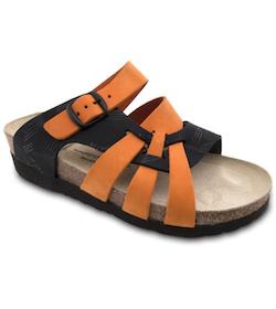Vogelsang Tofflor Flätad, Orange/Black