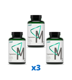 3 x Puori M3 Magnesium & Zink, 180 kapslar