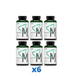 6 x Puori M3 Magnesium & Zink, 180 kapslar