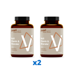 2 x Puori Multi Vitamin & Mineraler, 60 kapslar