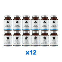 12 x Trippel Magnesium, 120 kapslar