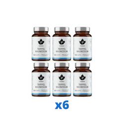 6 x Trippel Magnesium, 120 kapslar