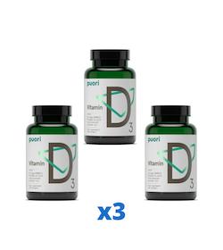 Puori D3-vitamin 2500IE, 120 kapslar