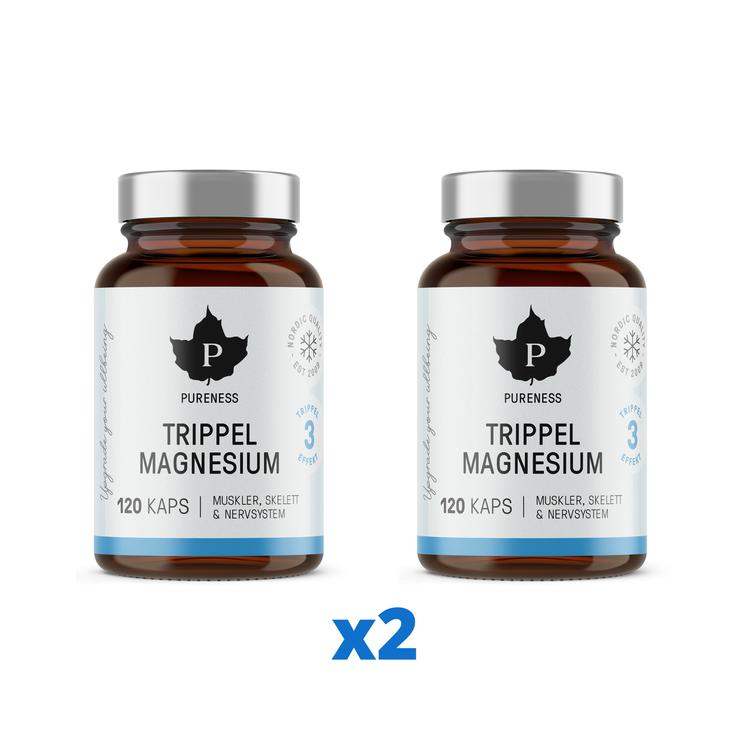 2 x Pureness Trippel Magnesium, 120 kapslar