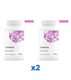2 x Thorne ResveraCel, 60 kapslar