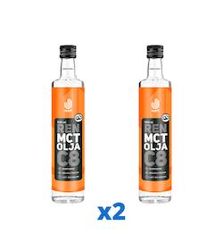 2 x Upgrit Ren C8 MCT-olja, 500 ml