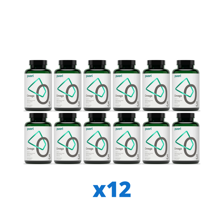 Puori O3 Omega-3, 180 kapslar
