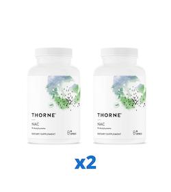 2 x Thorne NAC, 90 kapslar