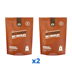 2 x The Friendly Fat Company C8 MCT-pulver med chokladsmak, 260g