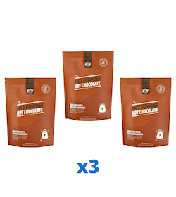 3 x The Friendly Fat Company C8 MCT-pulver med chokladsmak, 260g
