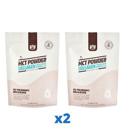 2 x The Friendly Fat Company MCT Powder Collagen, 300g + Vitamin C & D 300 g