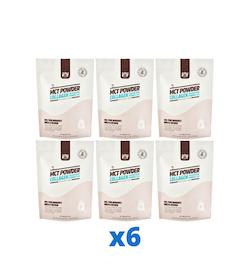 6 x The Friendly Fat Company MCT Powder Collagen, 300g + Vitamin C & D 300 g