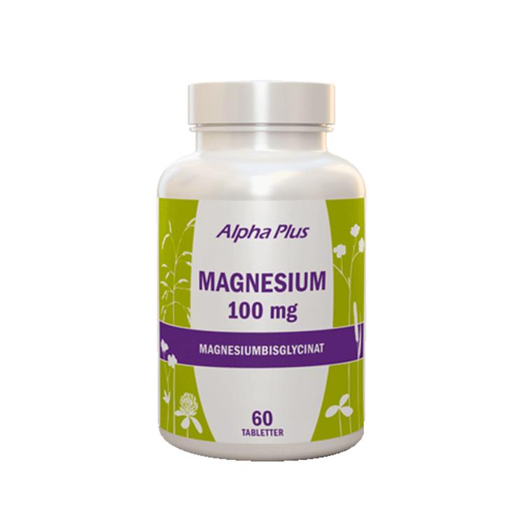 Alpha Plus Magnesium 100mg, 60 tabletter