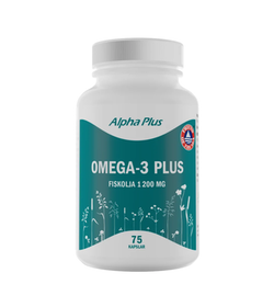 Alpha Plus Omega-3 Plus, 75 kapslar