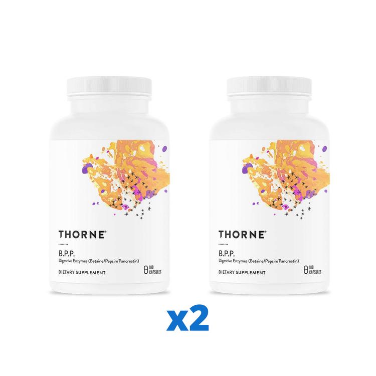 2 x Thorne B.P.P, 180 kapslar