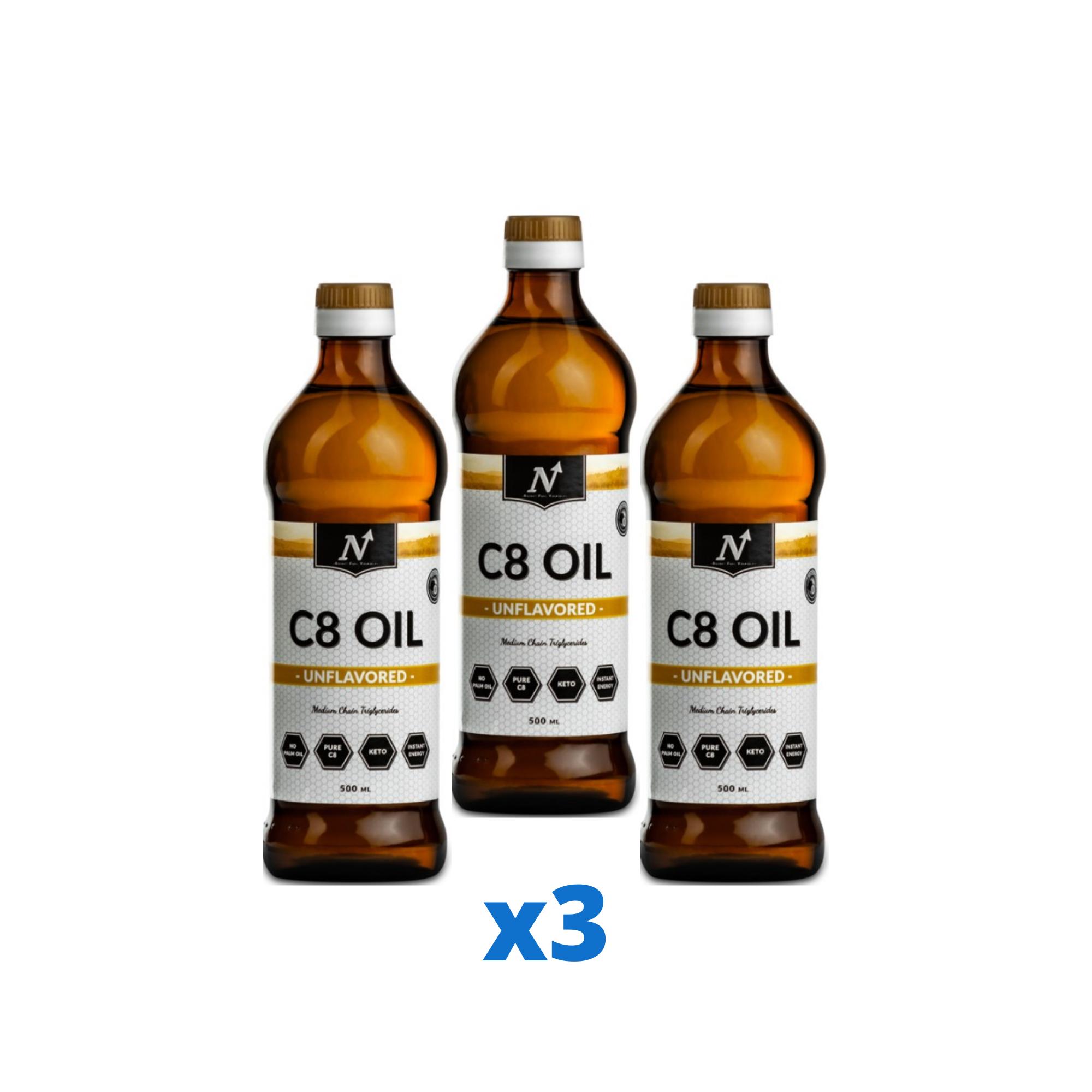 3 x Nyttoteket C8 Oil, 500ml