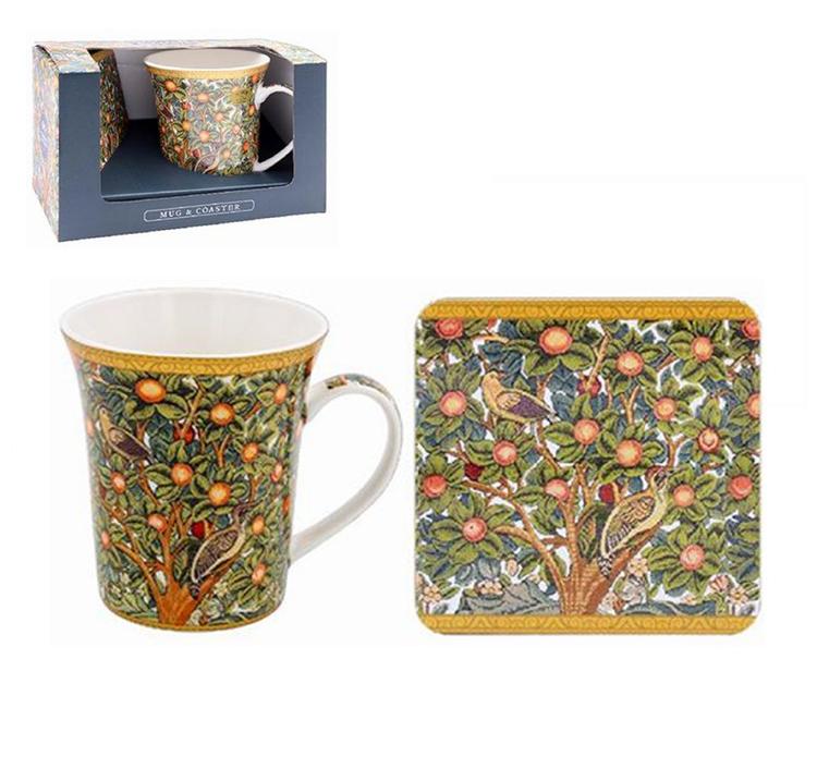 William Morris Woodpecker Presentset Mugg och Coaster