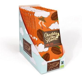 Chocolates from Heaven, 74 % Mörk choklad, Fairtrade & Ekologisk