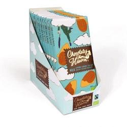 Chocolates from Heaven, Mjölkchoklad med Karamell, Havssalt & Mandel, Fairtrade & Ekologisk