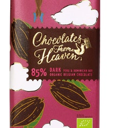 Chocolates from Heaven, 85 % Mörk choklad, Fairtrade & Ekologisk