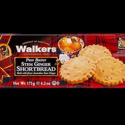 Stem Ginger Shortbread, 175 g