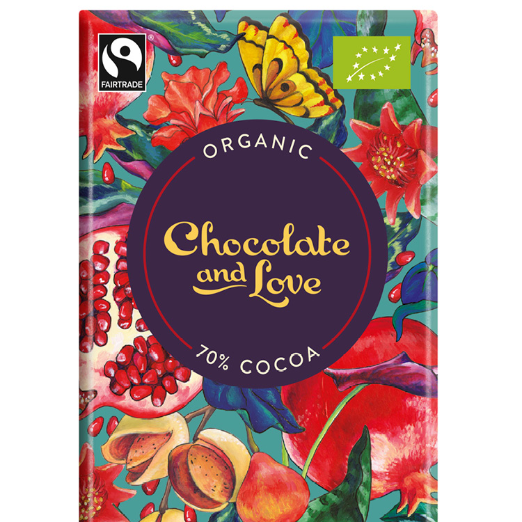 Chocolate & Love - Pomegranate 70% - 80 g