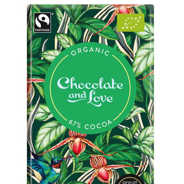 Chocolate & Love - Mint 67 % - 80 g