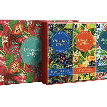 Chocolate & Love - Gift box med 4 chokladkakor