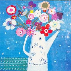 Kanna med blommor