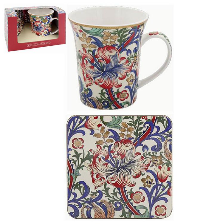 William Morris New Golden Lily - Presentset mugg & coaster