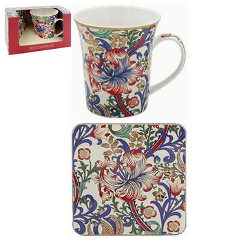 William Morris New Golden Lily - Presentset mugg & coaster