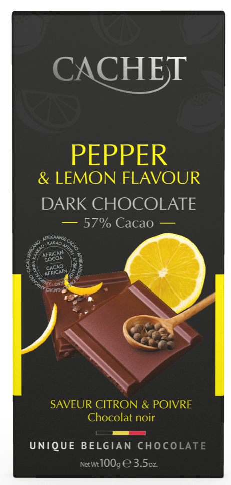 Mörk 57 % Choklad Citron & Svartpeppar