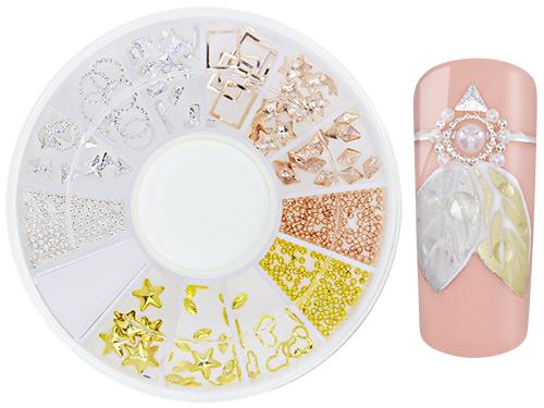 Nageldekoration silver, guld, rosé