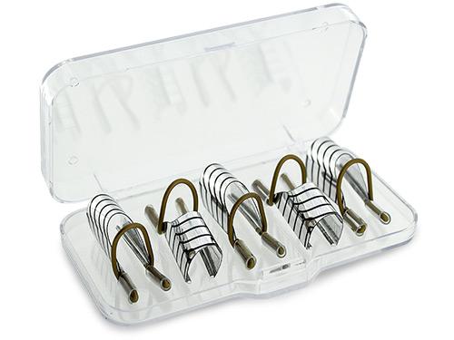 Nagelmallar i böjbar metall som kan användas många gånger
