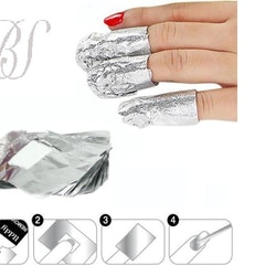 Remover wraps for gel and acrylic nails
