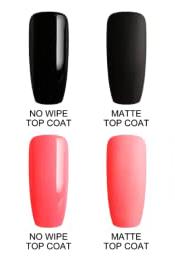 Matte top vs shiny top polish gel