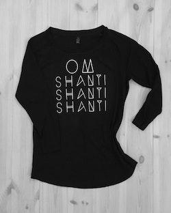 OM SHANTI SHANTI SHANTI - SHIRT - BLACK