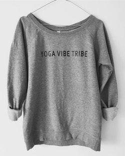 YOGA VIBE TRIBE - SWEATER - LIGHT GREY