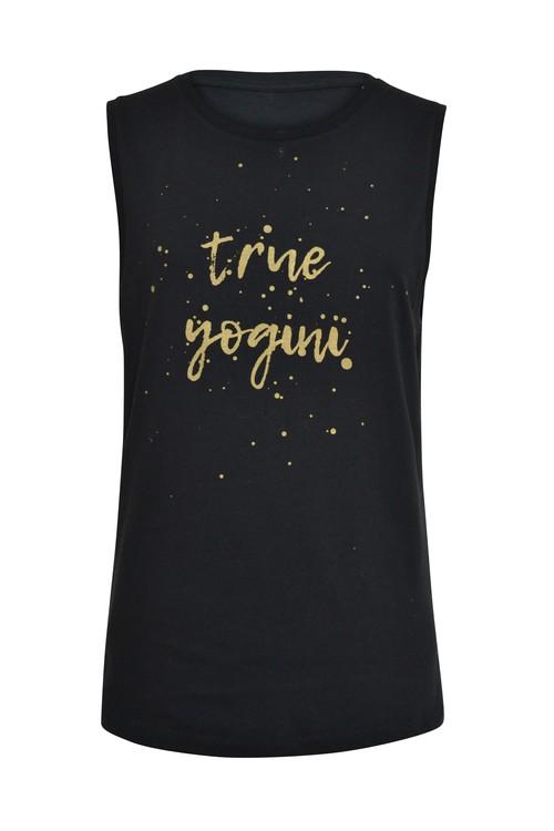 TRUE YOGINI - MUSCLE TANK - BLACK