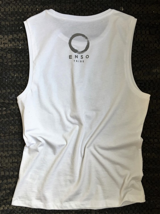 TRUE YOGINI - MUSCLE TANK - WHITE