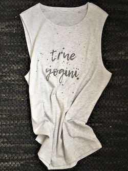 TRUE YOGINI - MUSCLE TANK - LIGHT GREY