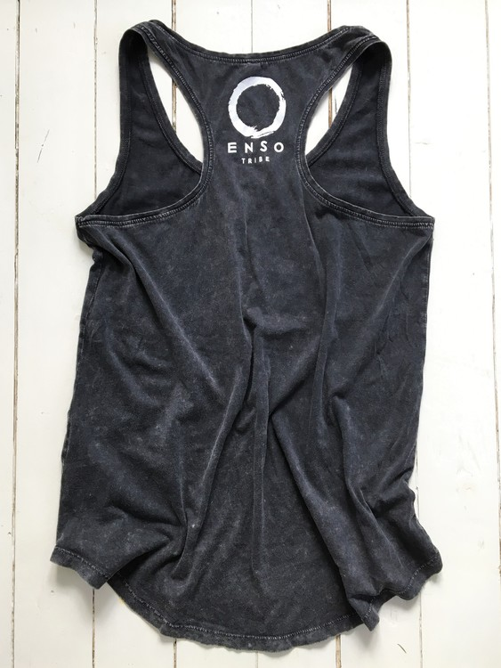 BREATHE MOVE HOLD - RACERBACK TANK - ACID BLACK